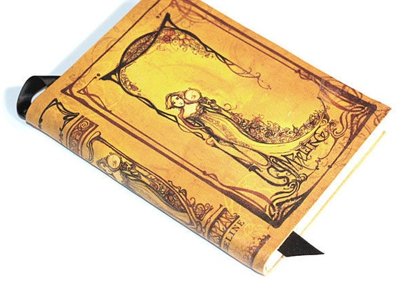 Shakespeare Leather Journal - Cymbeline yellow illustration blank book