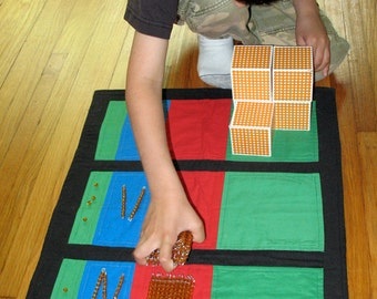DIGITAL PDF Sewing Pattern Montessori DIY Math: Addition and Place Value Mats