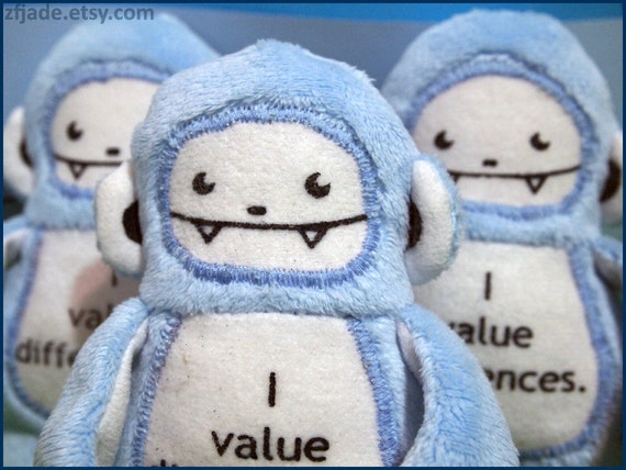 Woo-woo: I value differences. For autism awareness.