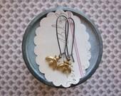 beatrice earrings sterling silver brass honey bee