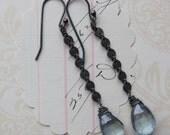 cathe earrings - sky blue Topaz
