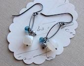 marissa earrings   sterling silver pearl chalcedony