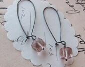 talita earrings sterling pink gemstone