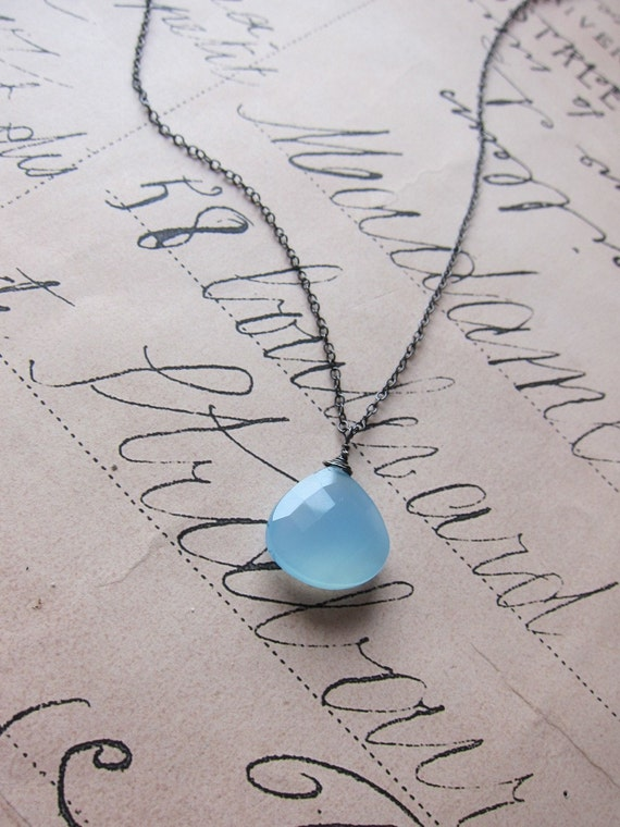 faryn necklace - ocean blue