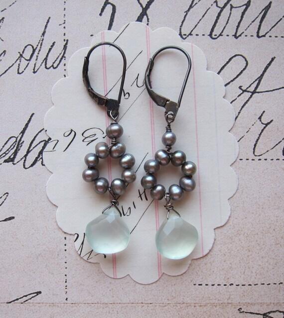 brooke earrings - pearls sterling
