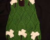 st.patrick measure made dog pet sweaters jackets - hand knitted and individually crafted for a perfect fit