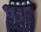 MADE TO MEASURE dog or pet  beaded sweater - Alpaca wool - Hand Knitted
