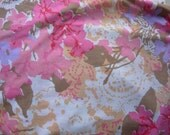 Vintage Pink and Brown Sheeting