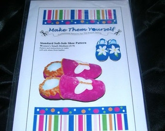 Soft-Sole Shoe Sewing Pattern for Women (Lg - XLg) - email