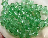 Green Swarovski Crystal Faceted Beads/10