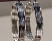Solid Wire Wrap Hoop Earrings SS