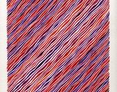 Red and Purple Harmony Original Watercolor