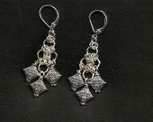 Silver Plated chain maille earrings