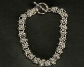 Silver Plated chain maille bracelet