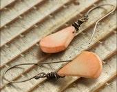 Pink Coral Sterling Silver Earrings - Jewelry by Jason Stroud