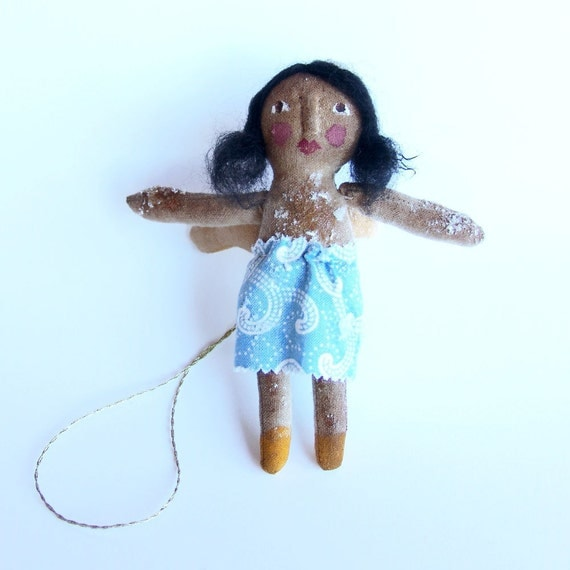 Christmas decoration, Angel,  primitive doll