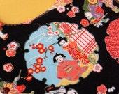 Asian Cherry Blossom Bib w\/ Velcro Closure- STORE CLOSING SALE