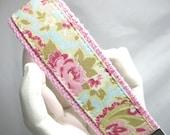 Keychain Key Fob Wristlet Cottage Floral
