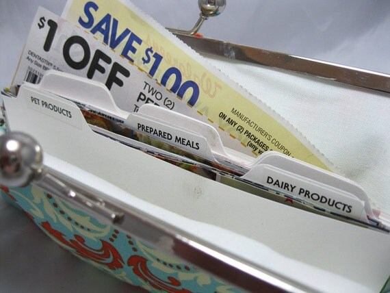 Extra Coupon Organizer Dividers - 15 Card Set with Labels