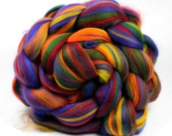 Rainbow Blend Merino Wool Combed Top 100g 3.5 0z
