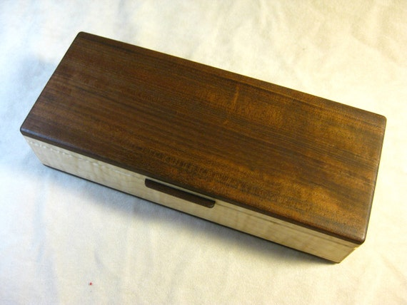 Walnut and Tiger Maple Jewelry Box