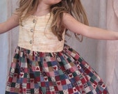 Custom Heart Twirl Dress, Purse and Bloomers Set
