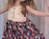 Custom Heart Twirl Dress, Purse and Bloomers Set