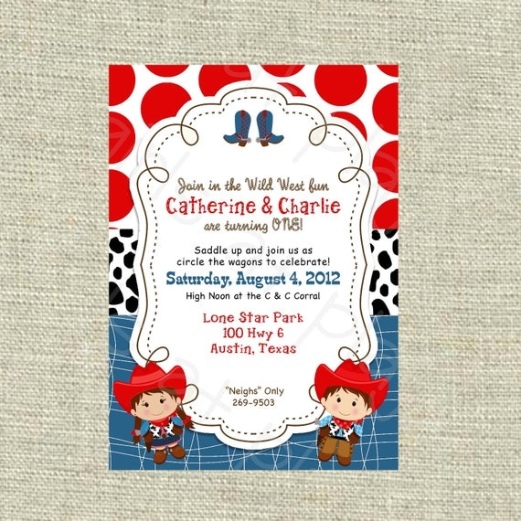 Cowgirl Invitation Wording as luxury invitations example