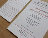 Book Lovers Letterpress Wedding Invitation //  A Letterpress Wedding Invitation perfect for students, readers, writers or book worms!