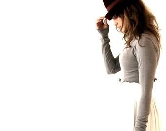 TURTLENECK CROP TOP  cropped, half top, turtleneck shirt, hand made, treehouse28, light grey, yoga top, women's shirt, women, girls, shirt