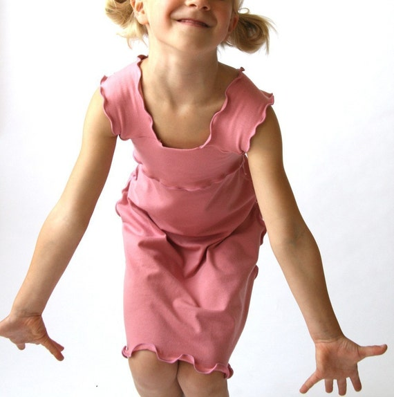 children's WIDE STRAP DRESS clothing  spring celebrations  fashion  children  girls dress  handmade treehouse28  pink dress