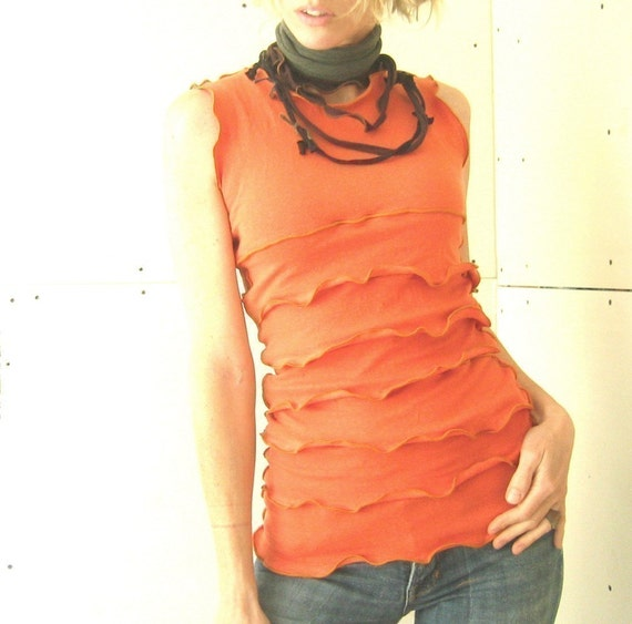 Ruffled top tank top womens shirt best selling by treehouse28 for Selling shirts on etsy