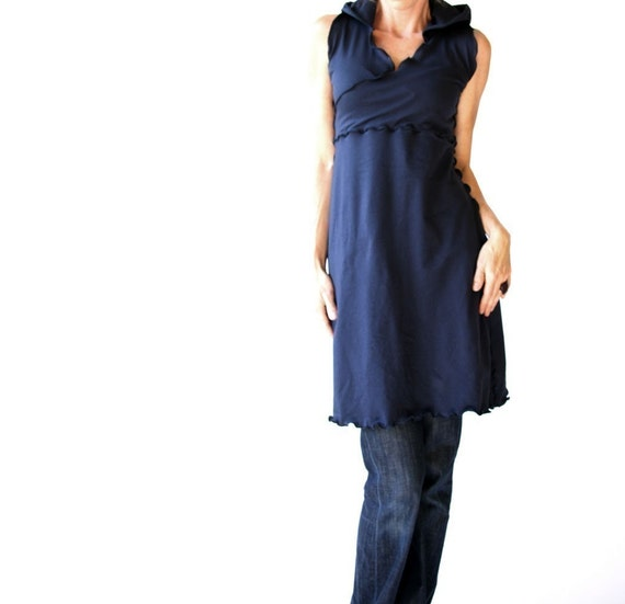 FAUXWRAP HOODY DRESS day dress| clothing| women| best selling| trending items|  handmade| womens dress| unique clothing