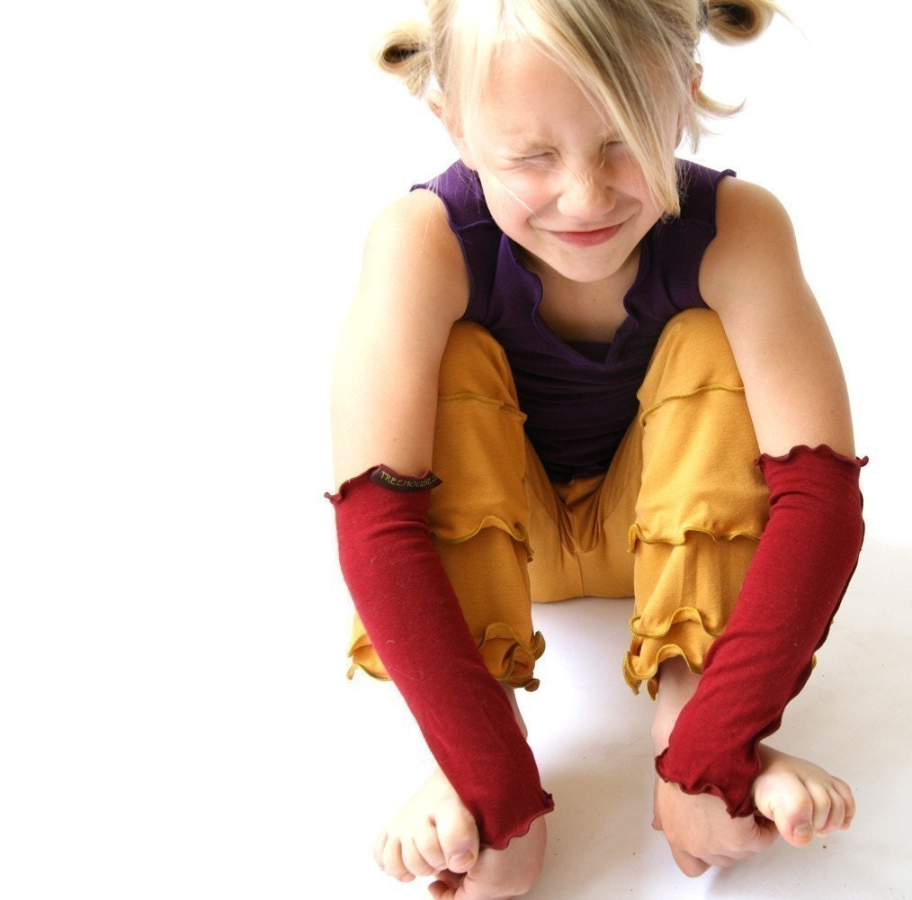 CHILDREN'S ARM WARMERS w/ thumbhole option custom hand