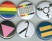 Gay Rights Pins Buttons Badges LGBT Pride Rainbow