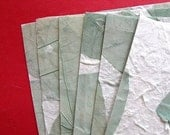Gorgeous Handmade Green Leaf Paper