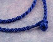 "16"" Royal Blue Twist Cord Necklace"