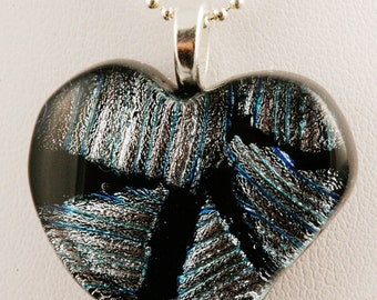 Fused Glass Heart Pendant No. 60032