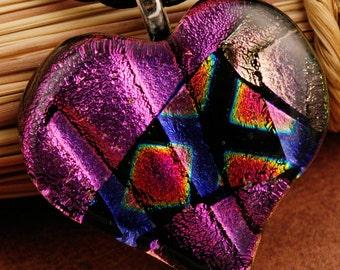 Fused Glass Heart Pendant No. 60022