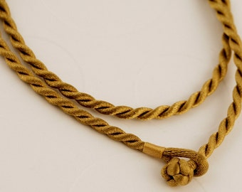 "18"" Gold Twist Cord Necklace"