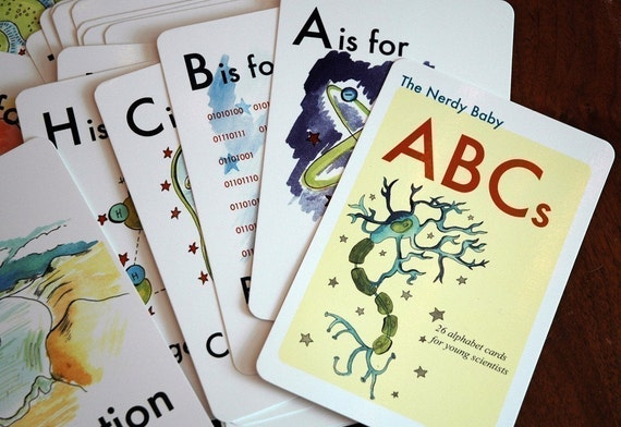 Baby Gifts For Nerdy Parents : Nerdy baby abc flash cards