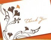 S A L E 50 % OFF Letterpress Gingko Thank You
