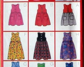 Butterick Fast and Easy Children's Girl's Jumper Sewing Pattern Size 2-3-4-5