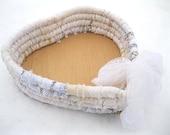 PURITY  heart shaped textile art gift BASKET