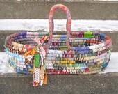 SNUGGLE  Moses  textile art  tote BASKET