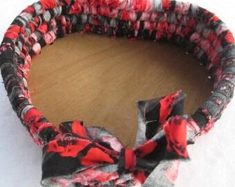 AMERICAN BEAUTY  heart shaped textile art gift BASKET