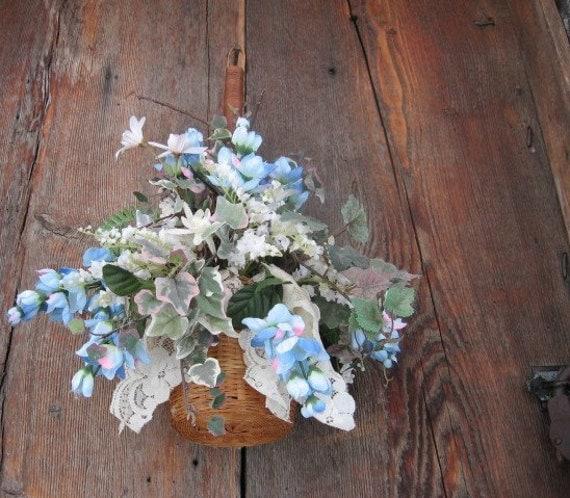 JOANNA   WREATH alternative Hanging floral BASKET for spring and summer