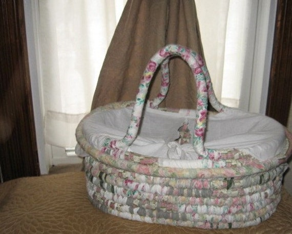 SPECIAL ORDER reserved for Tia NOSTALGiA  large textile art BASKET tote with vintage linen cover