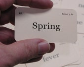 Mini Spring is sprung flash cards