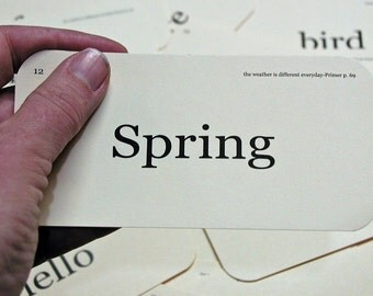 Spring has Sprung flash card tag set